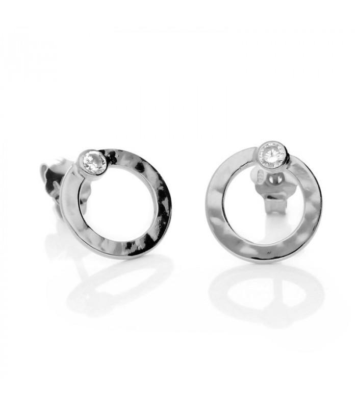 Hoop earrings with zirconia
