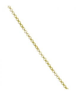 Cadena de rolo en plata chapada en oro