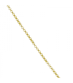 Gold plated silver rolo chain