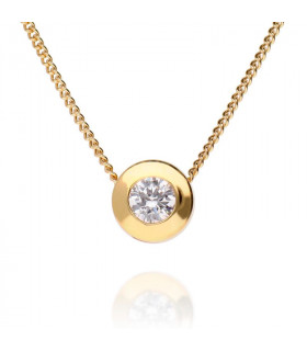 Zirconia pendant necklace in sterling gold