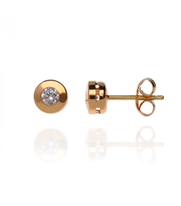 Gold zirconia earrings