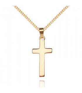 Colgante cruz en oro
