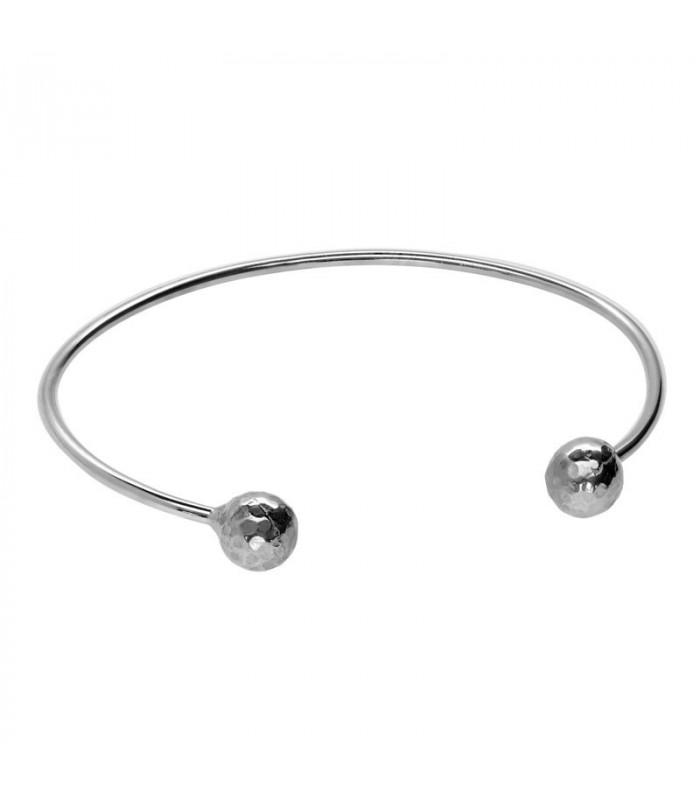 Two balls bracelet in silver