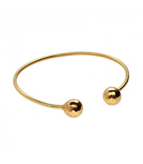 Two golden balls bracelet