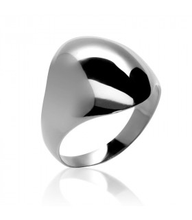 Oval seal ring in silver