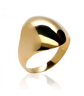 Golden oval signet ring