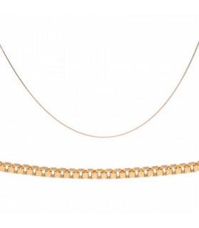 Collar de oro estilo veneciana