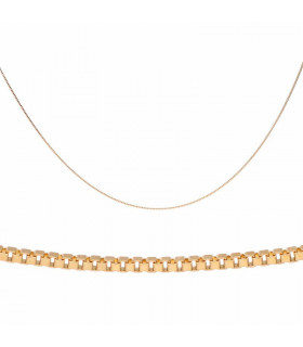 Venetian style gold necklace