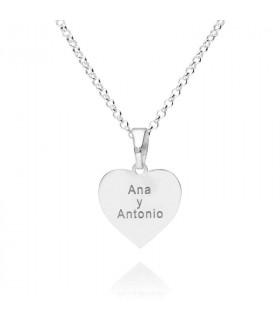 Colgante corazón personalizado de plata