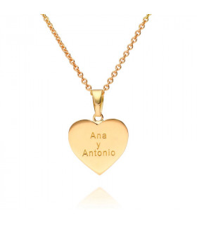 Personalized gold heart pendant