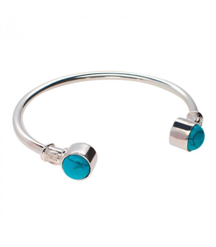 Turquoise torque bracelet