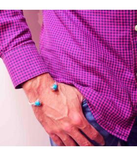 Pulsera con piedras lapislázuli
