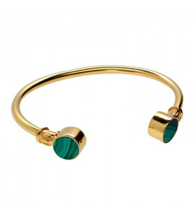 Malachite gold plated bracelet