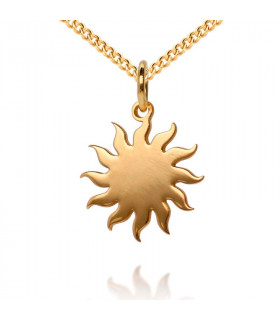Sun pendant in sterling gold