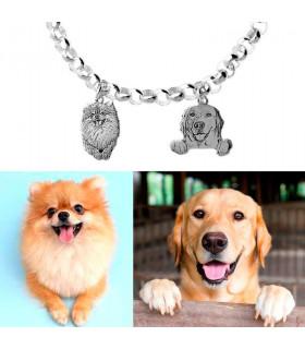 Personalized dog bracelet