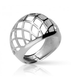 Silver grid ring