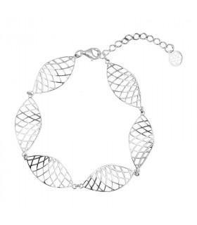 Sterling silver grid bracelet