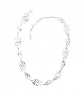 Grid necklace in silver