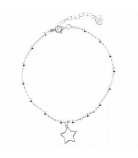 Anklet with star pendant