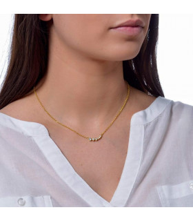 Choker on sale in silver with gold plating