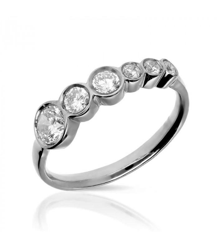 Brilliant ring in sterling silver