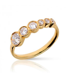 Cheap gold ring with brilliants