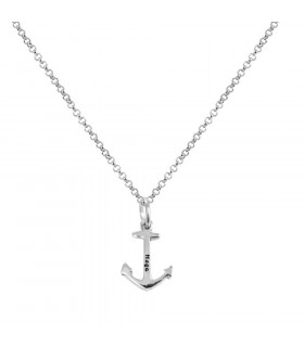 Collar ancla marinero en plata