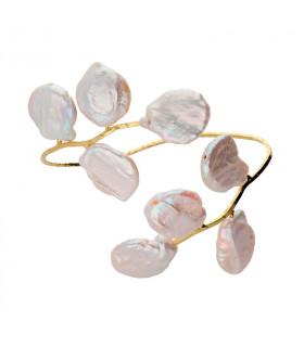 Pulsera Bali perlas barrocas