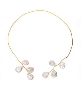 Gargantillas perlas barroca dorada