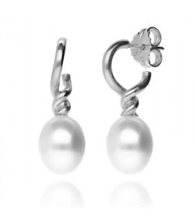 Pear-shaped pearl earrings