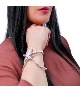 Starfish bracelet in silver