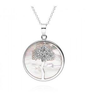 Silver biznaga pendant
