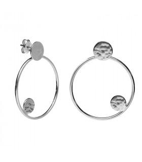 Circle hoop earrings in sterling silver
