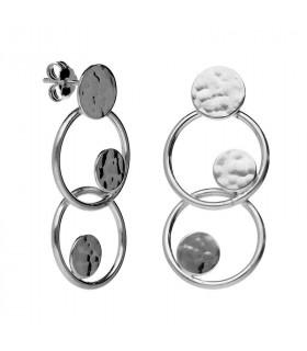 Pendientes aros de plata de la colección Orbital
