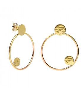 Golden orbital hoop earrings