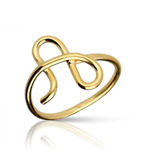 Gold Thread Initial Ring