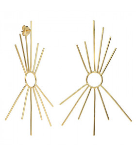 Golden sun earrings from the Bali collection