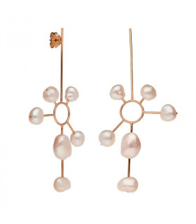 Pearl sun earrings from the Bali collection