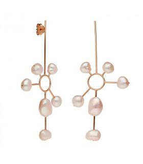 Pendientes sol perlas de la colección Bali