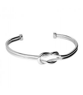 Square knot bracelet in sterling silver
