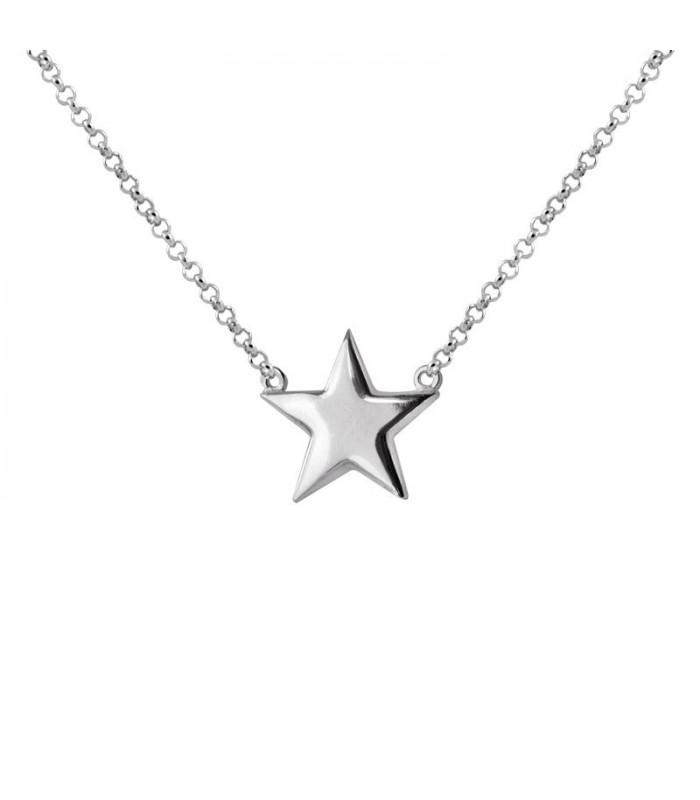 Gargantilla estrella plata