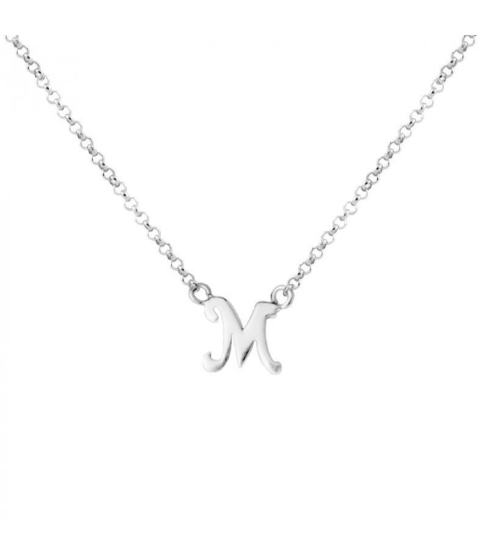 Collar inicial M en plata