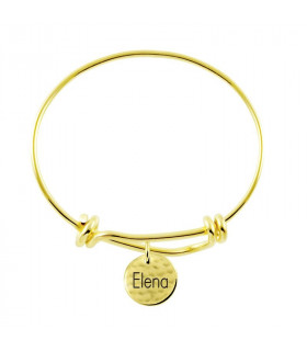 Brass bracelet knot with names