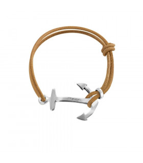 Bracelet anchor and leather...