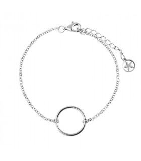 Silver bracelet with circle