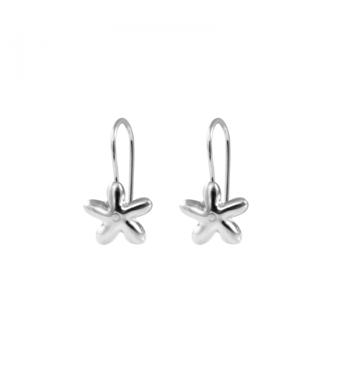 Mini silver jasmine earrings