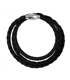 Leather bracelet 4mm Magnet