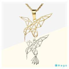 Colgante Origami Colibrí 🌺  www.joyeriahago.com . #colobrí #colgantecolibrí #origami #colganteorigami
