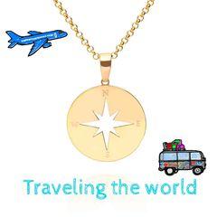 Traveling the World ¿Cuál es tu próximo viaje?. Compártelos con nosotros!!😍 #travel #cogante #colgantebrujula #rosadelosvientos