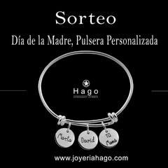¡SORTEO DÍA DE LA MADRE! ¿Quieres ganar esta pulsera personalizada? . Es muy sencillo. Sigue los siguientes pasos: . 👉Síguenos en nuestro perfil @joyeriahago y dale a me gusta a esta publicación 👉Menciona a la persona o personas que te gustaría que supiesen de este sorteo . 🔊Menciona a cuantas personas desees 🔊Tienes hasta el día 3 de Mayo para participar, anunciaremos al ganador/a en nuestra historia. . ¡¡SUERTE!!! . #sorteo #concurso #joyas #joyeria #mama #regalo #diadelamadre #pulsera #joyaspersonalizadas #jewelry #oro #plata #silver #gold #2mayo #2021 #moda #fashion #web #ventaonline #ecommerce #trends #tendencias #new #nuevacoleccion #newcollection